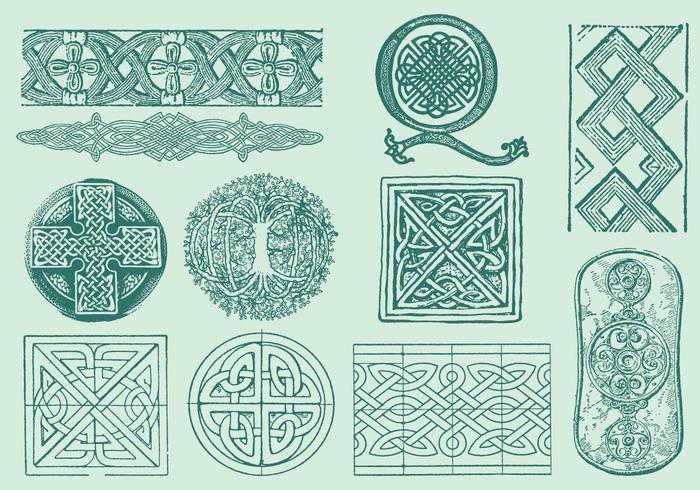 Decorações celtas vetor