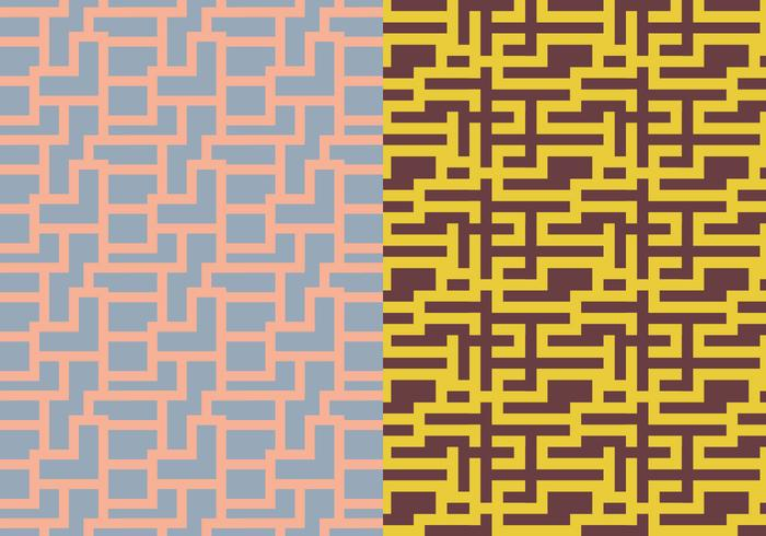 Padrão geométrico do labirinto vetor