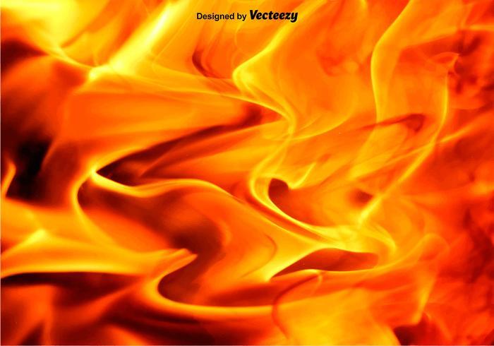 Fundo do vetor fogo e chamas