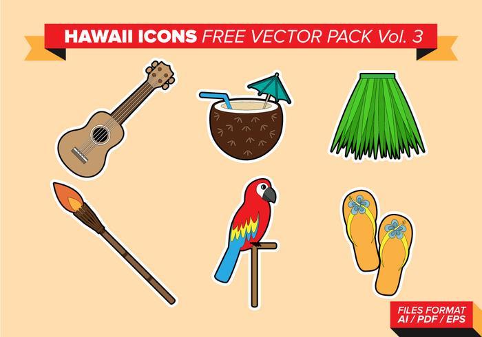 Ícones do Havaí Free Vector Pack Vol. 3