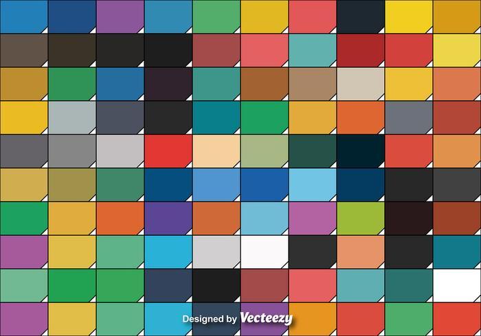 Conjunto legal de cem amostras de cores vetoriais vetor