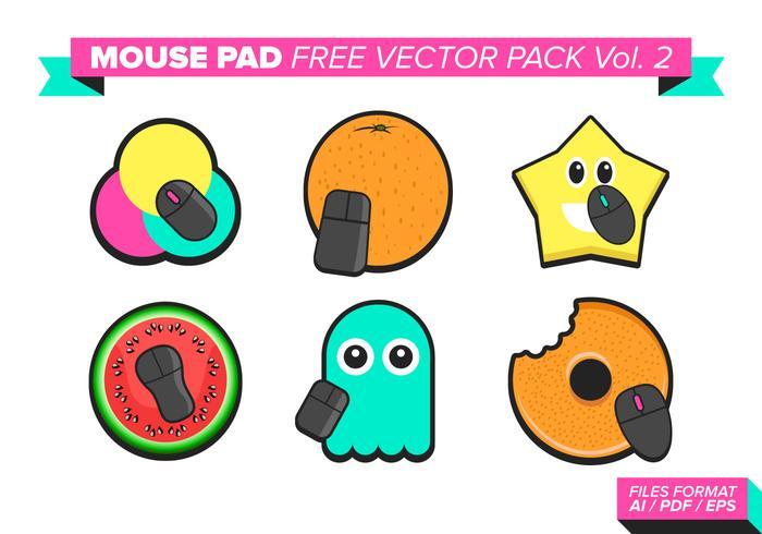 Mouse pad pacote de vetores grátis vol. 2