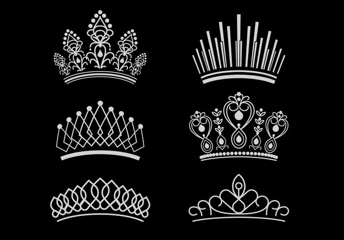 Vetores da coroa da página livre