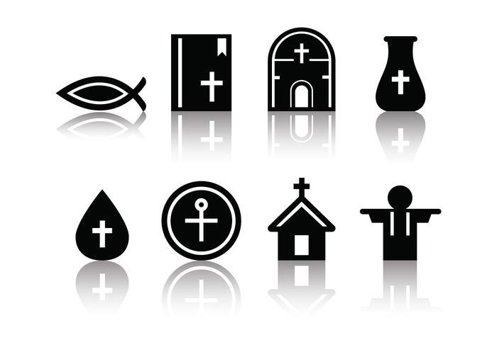 Ícones da Eucaristia Minimalista Gratuita vetor