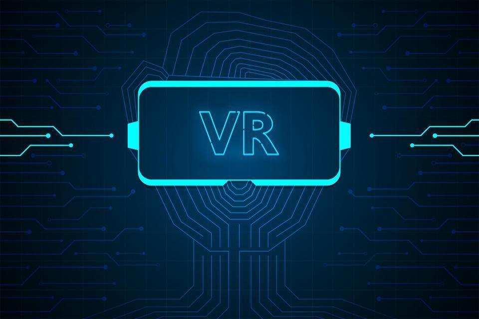 interface de tecnologia de realidade virtual hud vetor