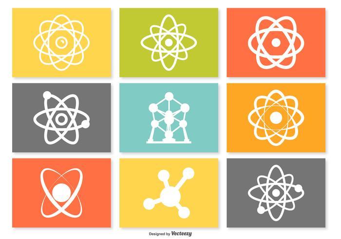 Conjunto de ícones Atom vetor