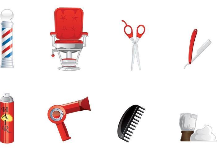 Pacote de vetores de barbeiro