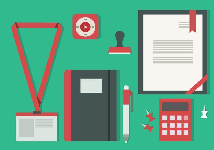 Free Flat Design Icon Conjunto de Business Vector