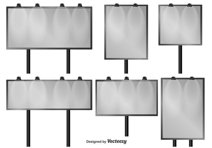 Conjunto de painéis de vetores isolados ao ar livre