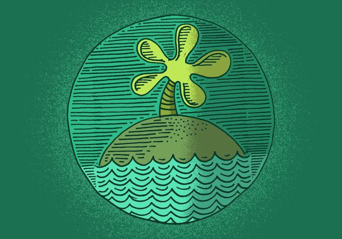 Emblema da ilha vetor