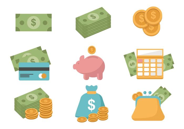 Vetor de ícones de finanças grátis