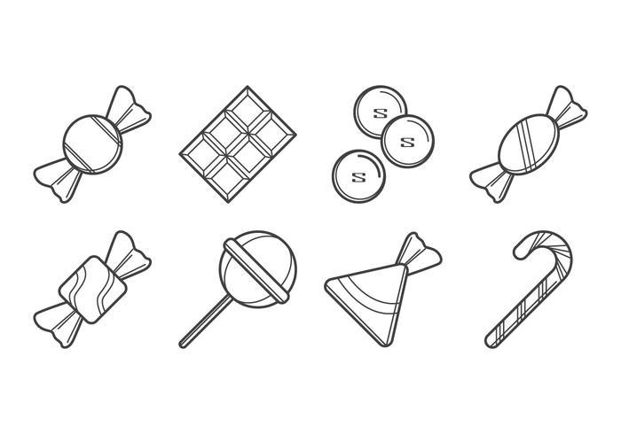 Vetor de ícones de doces grátis