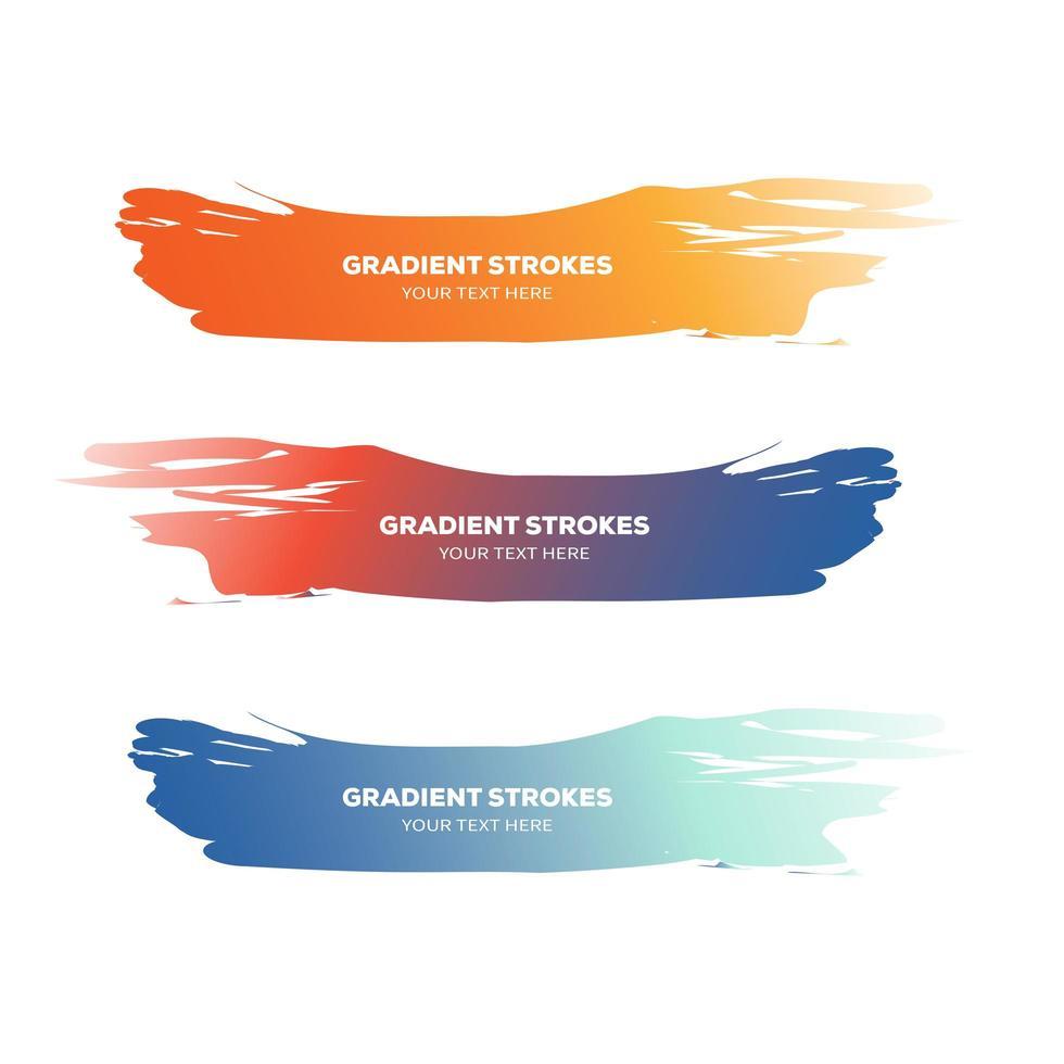 coleção de pinceladas coloridas vetor