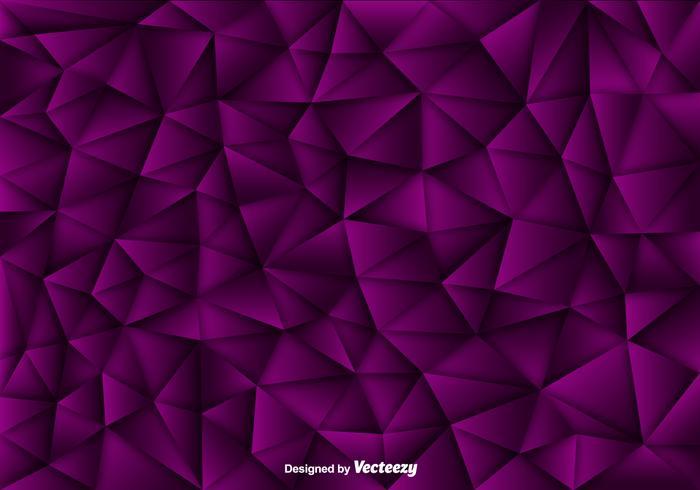 Fundo vetorial de polígonos roxos vetor