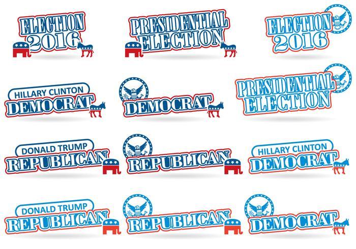 Eleição 2016 Títulos vetor