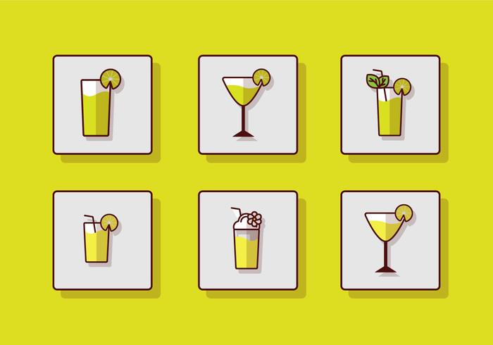 Ícone de bebida fresca vetor