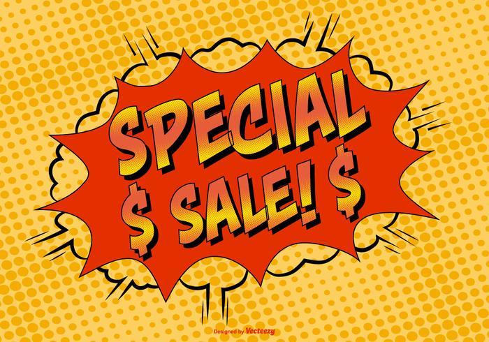 Ilustração Comic Style Sale Special vetor