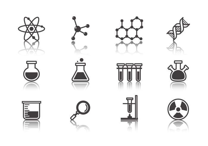 Vector livre de ícones de ciência e laboratório