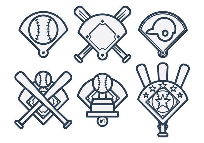 Vector de diamante de basebol