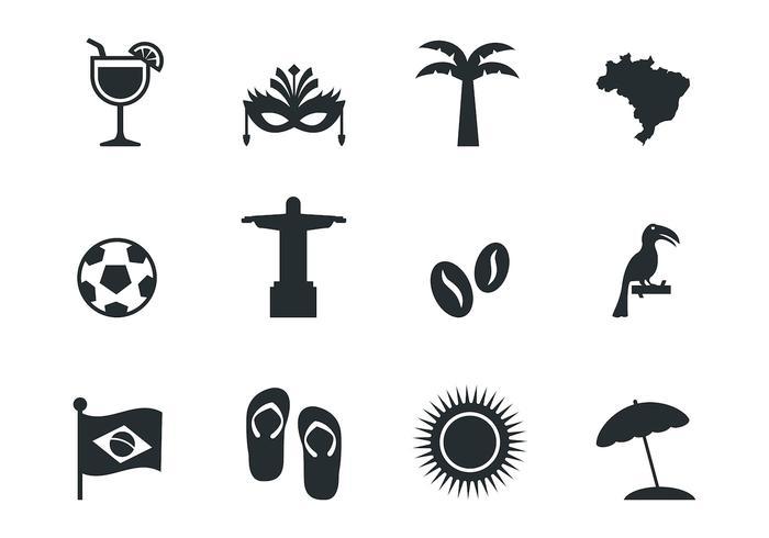 Vetor livre de ícones do Brasil