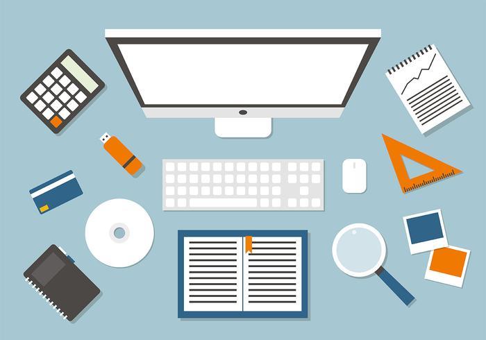 Ilustração do vetor do espaço de trabalho grátis do Business Manager