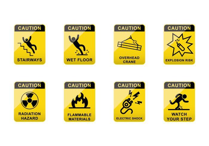 Vetor de sinal de precaução livre