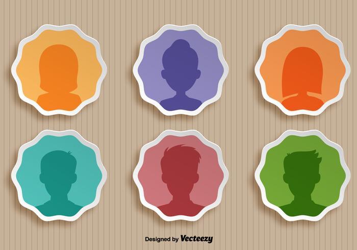 Conjunto de vetores de ícones de pessoa