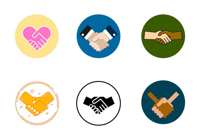 Livre Handshake trabalhando juntos Vector