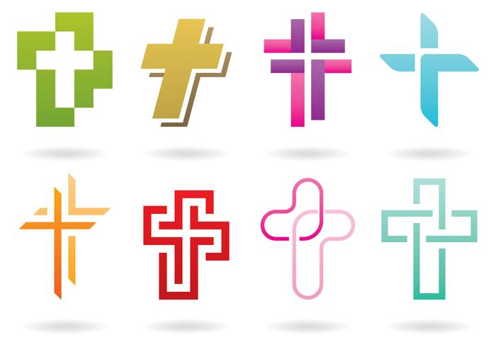 Logos cruzados vetor