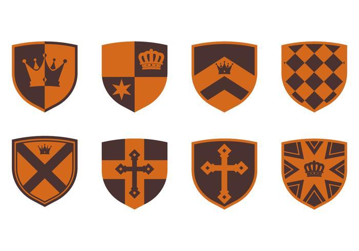 Blason medieval vetor