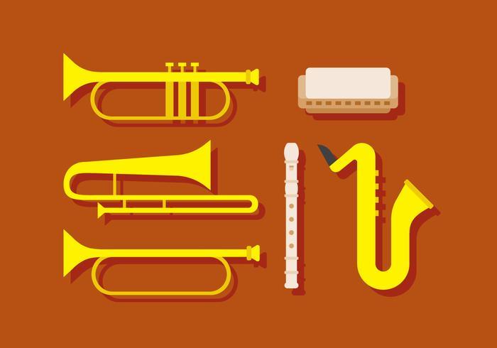 Instrumento musical de vetor