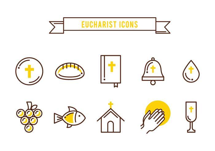 Ícones de sacramentos gratuitos vetor