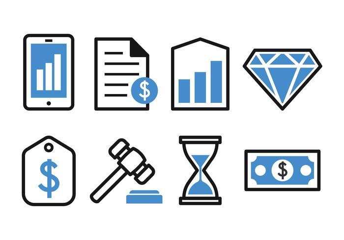 Conjunto de ícones de Negócios e finanças grátis vetor