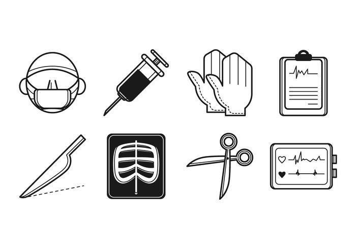 Vector de ícones de cirurgia grátis