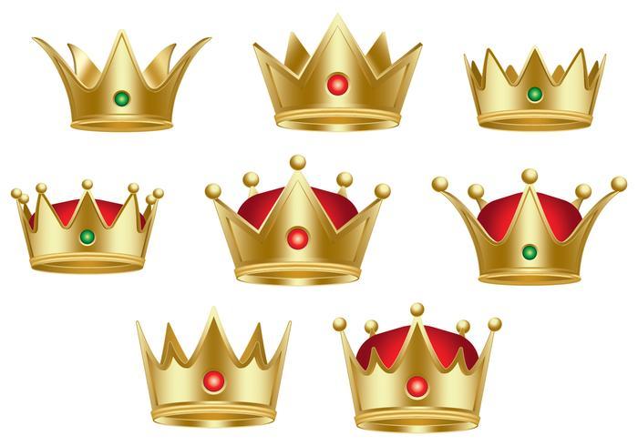 Coleção clássica da rainha Crown vetor