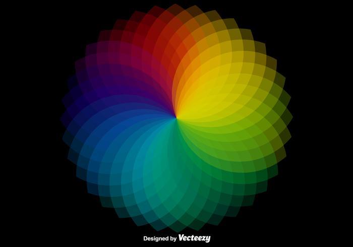 Amostrador de cores de roda de vetores