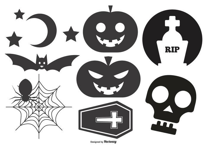 Formas vetoriais de Halloween vetor