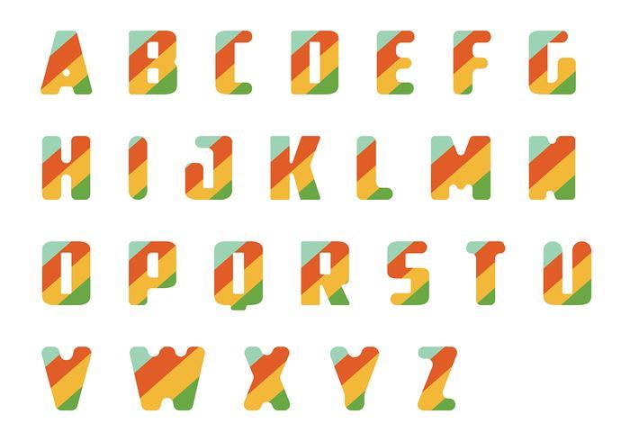 Pacote de vetores em letras listradas