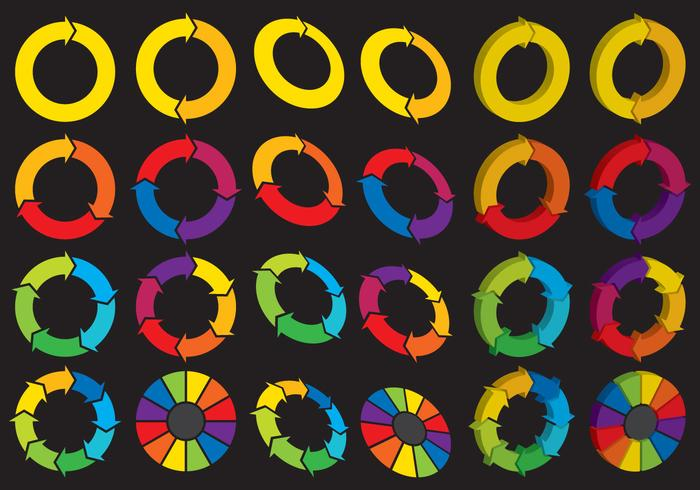 Logos de roda de giro vetor