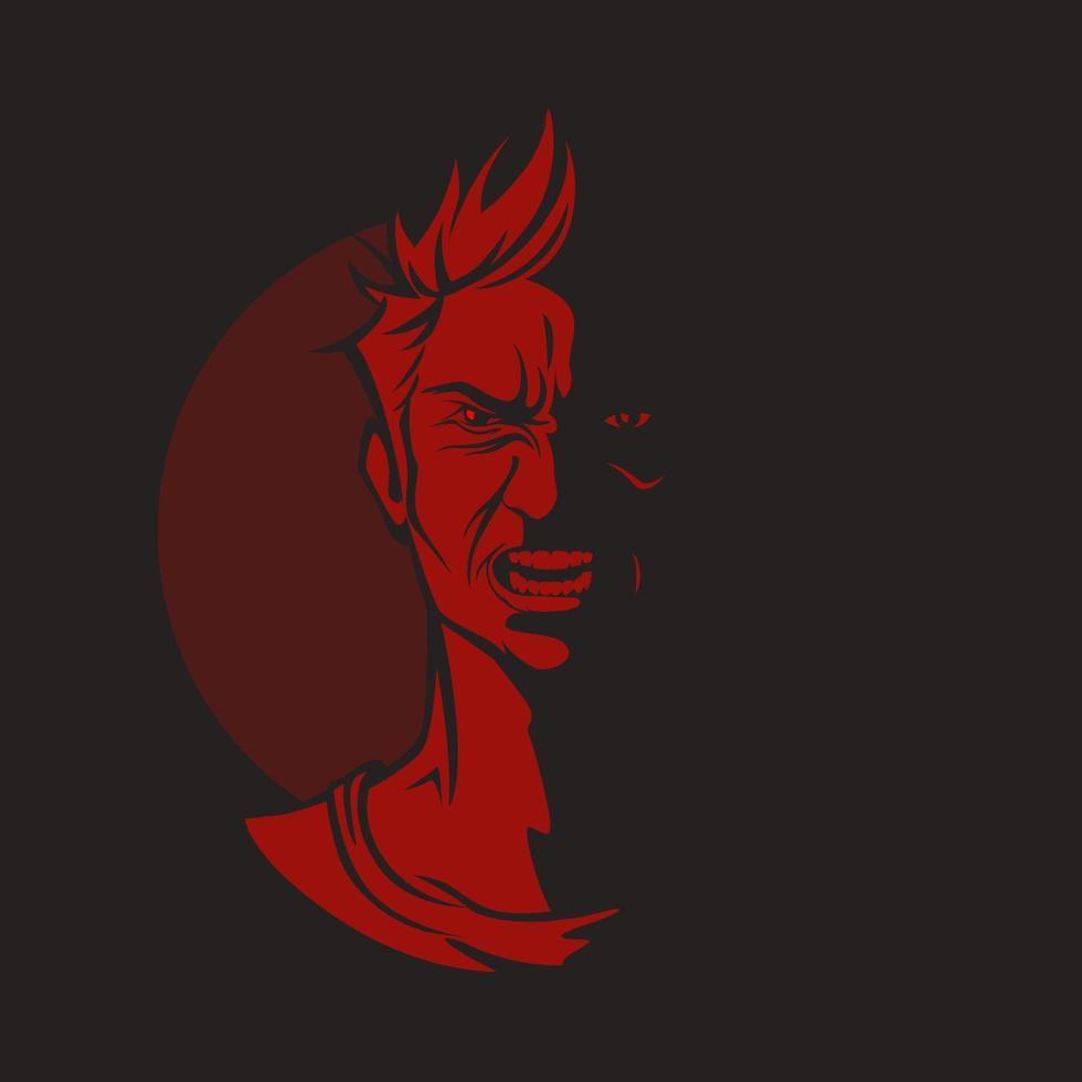 personagem com raiva com cara de enlouquecer vetor