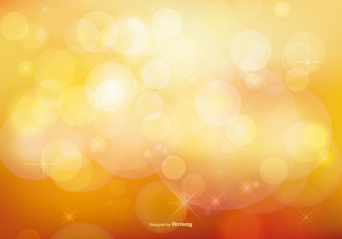 Golden Stardust Bokeh e Stars Background vetor