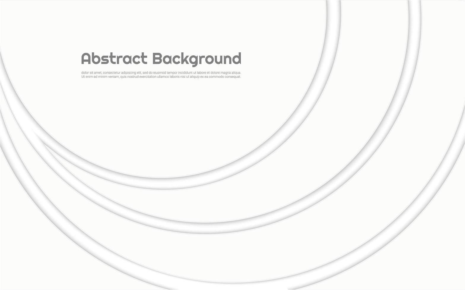 design moderno círculo branco vetor