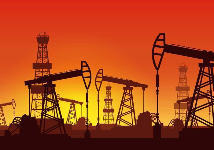 Vector de plataforma de óleo grátis