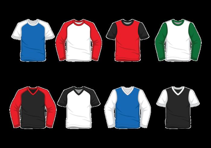 Raglan t-shirt do homem vetor