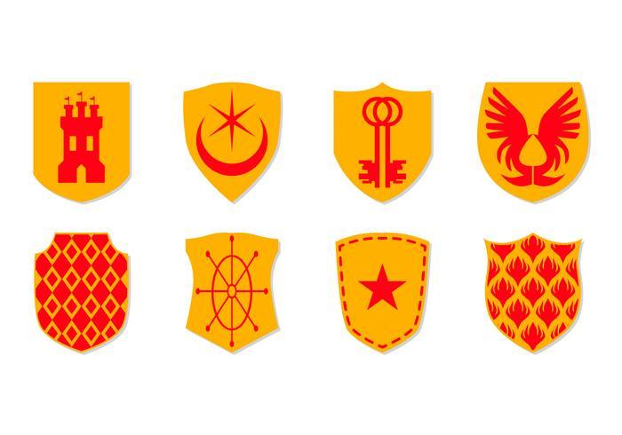 Vector de ícone grátis da brasão