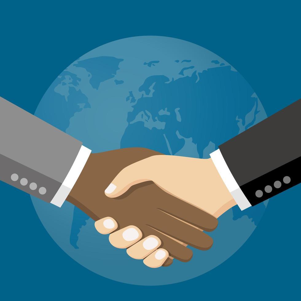 pessoas de negócios, apertando as mãos vetor