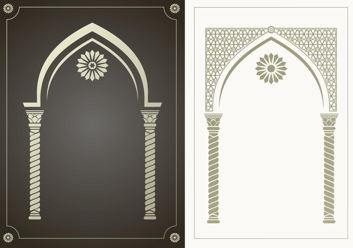 conjunto de arco de estilo árabe vetor