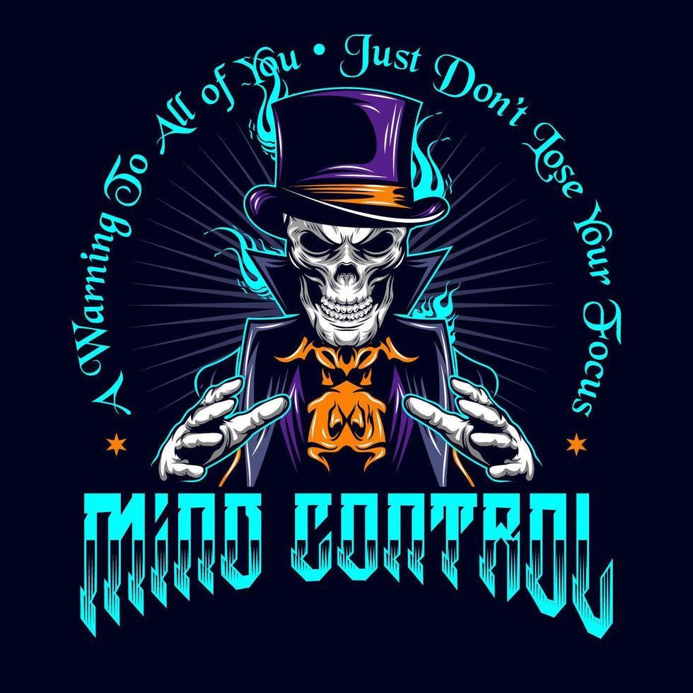 crânio mágico '' controle mental '' vetor