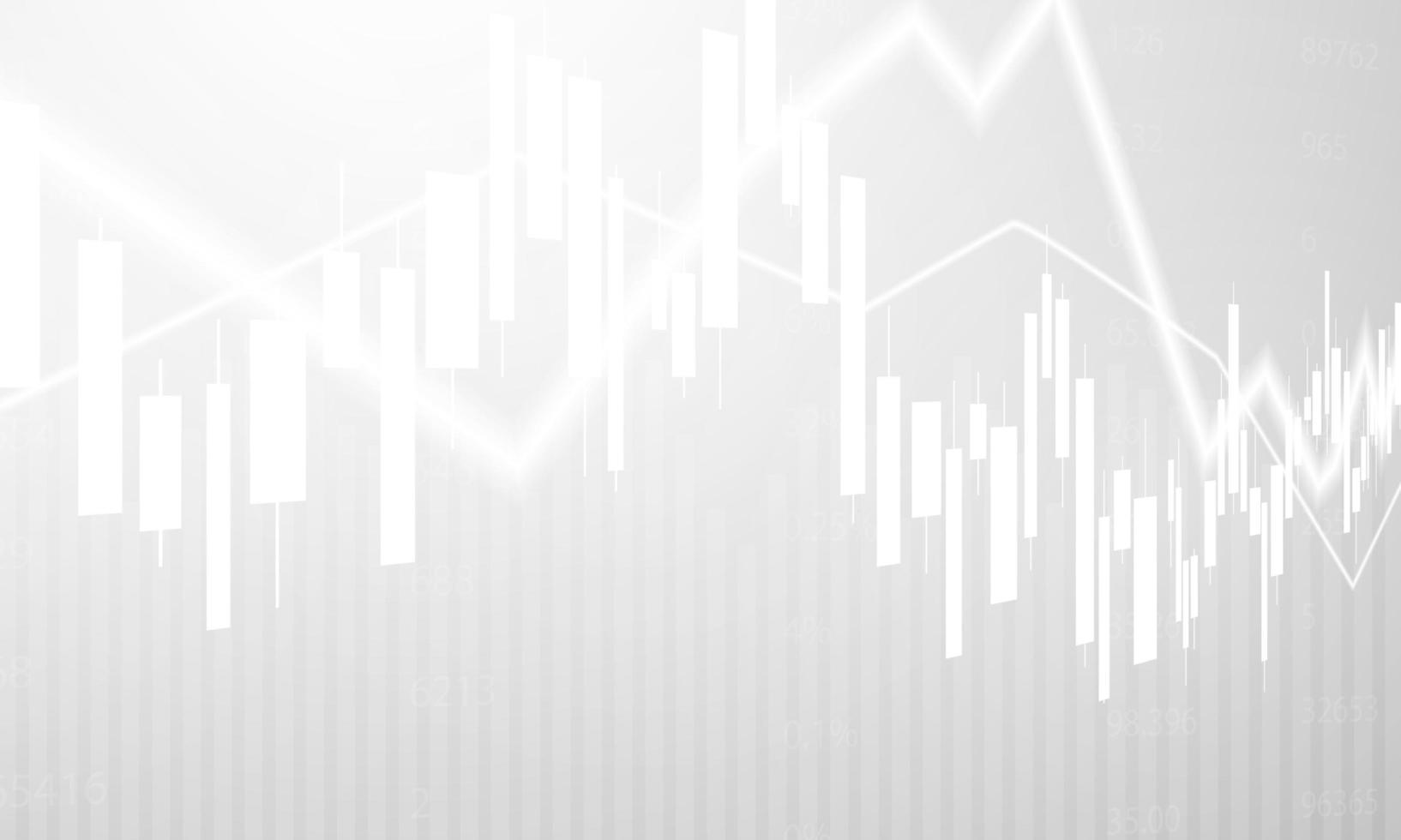 design gráfico do mercado de ações em fundo branco vetor