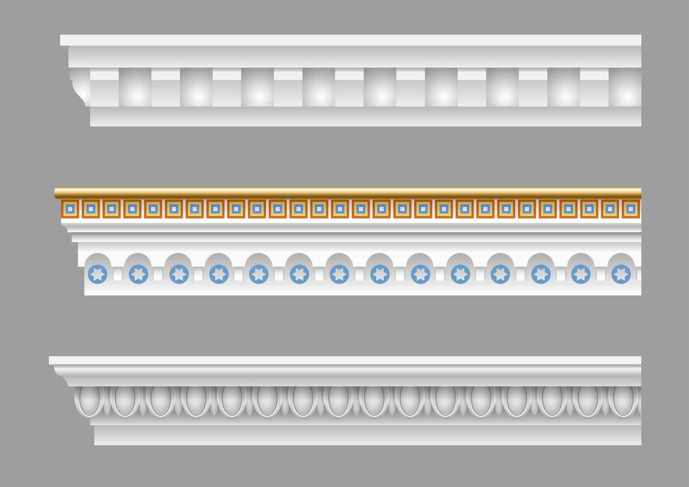 conjunto de cornija clássico vetor